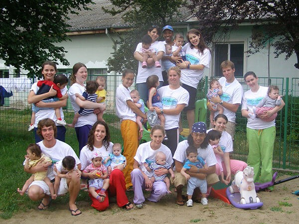 Global Volunteers at Romanian Orphanage